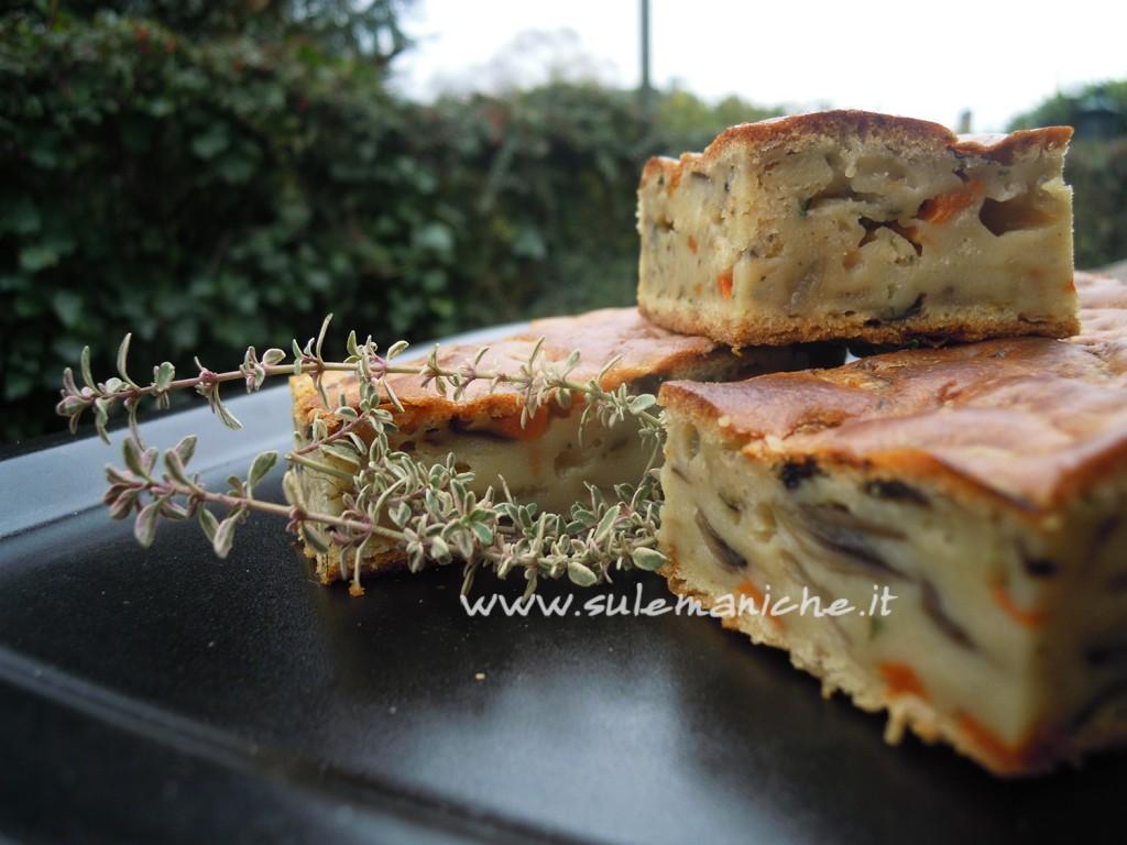 torta rustica vegana funghi