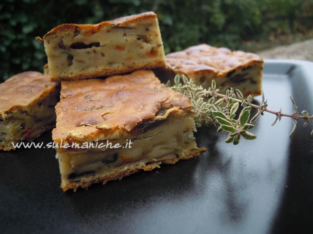 torta rustica vegana funghi2