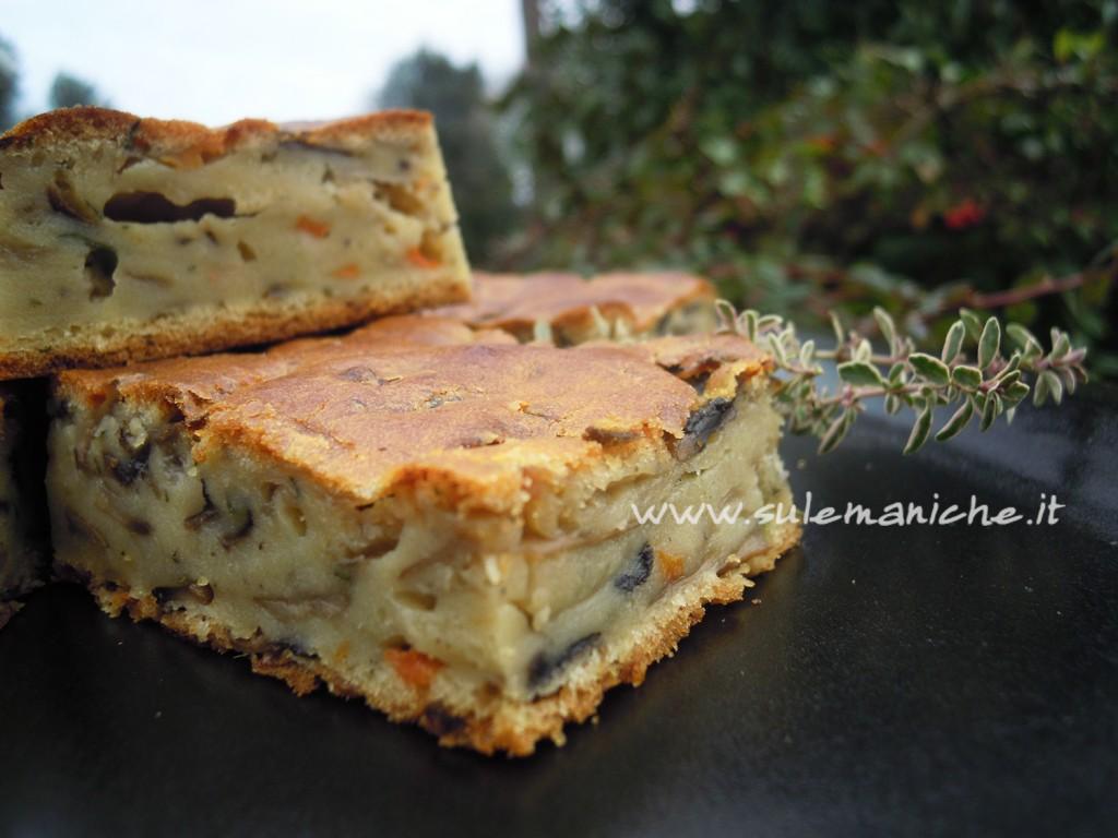 torta rustica vegana funghi3
